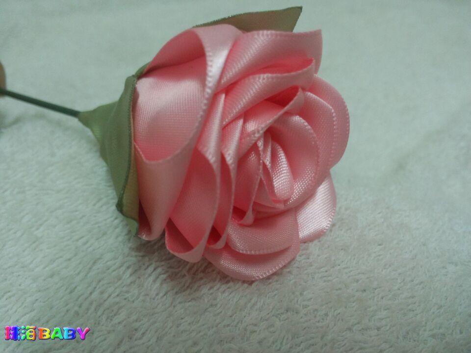 纯手工丝带玫瑰花,接受订做了 销售 代购专区 珠海BABY 家庭育儿网 图片
